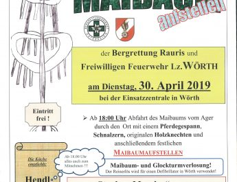 Einladung zum Maibaumaufstellen