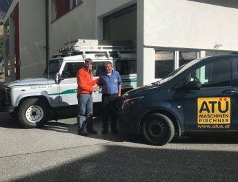 Firma ATÜ Maschinen Pirchner aus Rauris spendet erneut einen Hochdruckreiniger