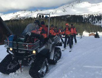 Bergrettung Rauris unterstützt den Winter- Grundausbildungskurs der Salzburger Bergrettung