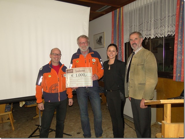 Spendenuebergabe des Tourismusverbandes Rauris